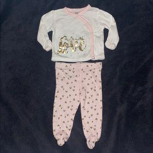 $4 Sale Gerber Organic 2-pc Sleeper Outfit